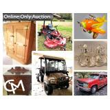 Outstanding Collection of Antiques & Vintage Toys, Chevy 3500, Ford F150, UTV's, Harley, Mower, & MORE!