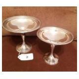 Set of Sterling Pedestal Dishes