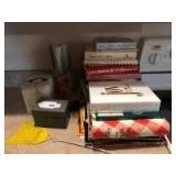 Cook books; recipe; tissue box cover