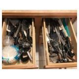 Knives; serving & cooking utensils
