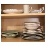 Plates, bowls, coffee cups and miscellaneous