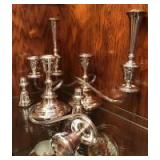 Pair of Gorham 3 light candle holders