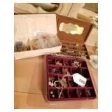 Jewelry Boxes with mostly Clip-on Earrings
