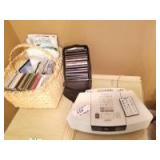 Bosr Wave Radio/cd Player; Basket and Case with cds