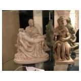 2 ceramic religious figures