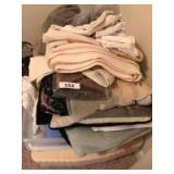 Blankets, sheets, throw pillow, hankies and misc