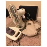Fan, massagers, foam seat cushion, trash can