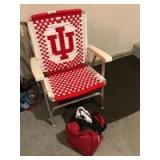 2 IU lawn chairs; bowling ball & ladies shoes
