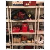 Plastic shelf & cintents