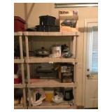 Plastic shelf & contens