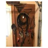 Yard tools; soaker hose; trimmers