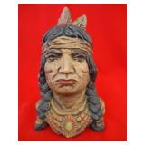 "10"" Ceramic Indian Head"