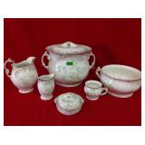 Vintage Semi W.M Co Percelain Wash Set