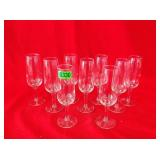 Set of 9 Stemware Glasses