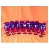 23 Cobalt Blue Wine Glasses