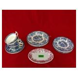 Royal Staffordshine Tonquin Blue &White Dinnerware
