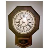 W.E. Chliton Wall Clock w/ key
