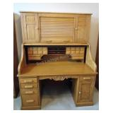 Large Solid Roll Top Desk