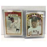 2- 1972 Topps Willie Mays Baseball Cards