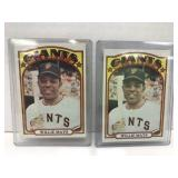 2- 1972 Topps #49 Willie Mays Baseball Cards