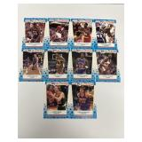 10- Fleer 1989 All-Stars Basketball Sticker Cards