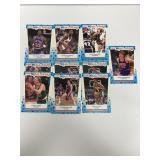 10- Fleer 1989 All-Star Basketball Sticker Cards