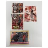 6- NBA Hoops Michael Jordan Basketball Cards