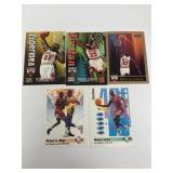 5- Skybox Michael Jordan Basketball Cards