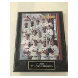 2006 St. Louis Cardinals plaque