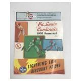 1971 St. Louis Cardinals Scorecard vs Chicago
