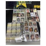 Basketball cards in binders