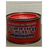Antique Lubriko Grease can, Full