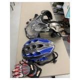 Helmet, Chest Protector, Gloves