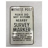 Survey Marker Metal Sign