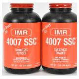 Lot of 2 New bottles IMR 4007 SSC SMOKELESS Powder