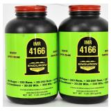 Lot of 2 Bottles - New -IMR 4166 Rifle Powder