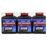 Lot of 3 1lb Bottles Norma 203B Smokeless Powder
