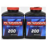 Lot of 2 Bottles - New Norma 200 Smokeless Gun Por