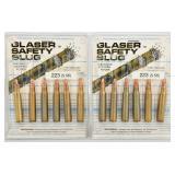 12 Rounds Of .223/5.56 Glaser Safety Slug Ammo