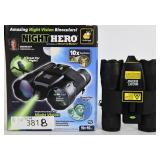 Atomic Night Hero Magnifying Binoculars – Black