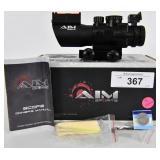 AIM 4x32 TRI-ILLUMINATED Scope w/Fiber Optic Sight