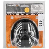 Champion Zebra Slim EarMuffs 21 NIP