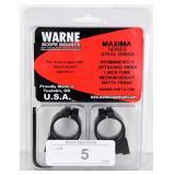 "Warne 1"" Tikka Fixed Rings Medium Black Matte"