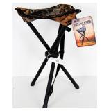 FIELDLINE TRIPOD FOLDING STOOL W/steel frame