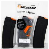HEXMAG 5.56 x 45 NATO .223 Rem Lot of 3 Mags