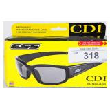 Eye Safety Systems CDI Glasses Black Frame Clear s