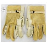 US Military Heavy Duty Cattlehide Work Gloves sz 4