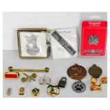 Lot of 13 misc Military Award pins and other key