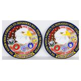 (2) Fallen Heroes Embroidered Patches NEW