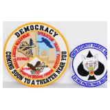 Lot of 2 EMbroidered DEMOCRACY Patches NEW